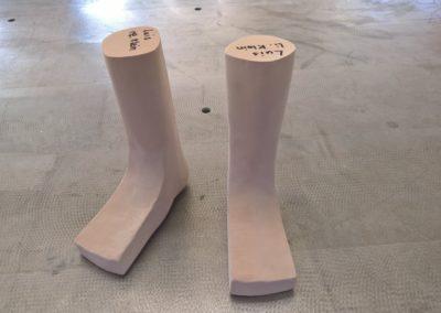 Fußmodell für Sanitätshaus