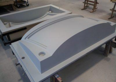 Werkzeug zur Herstellung eines ICE-Fensterrahmens